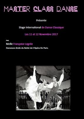 Stage danse classique 11 et 12 novembre 2017