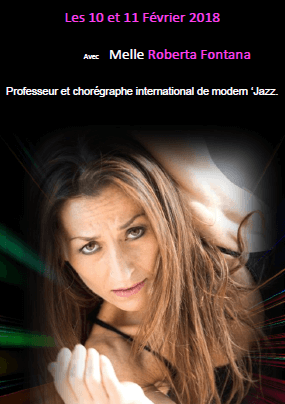 Stage International de Danse Modern Jazz 10 et 11 février 2018